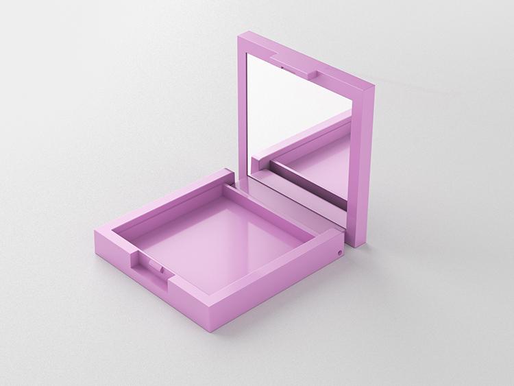 空方形高光腮红粉盒包装定制