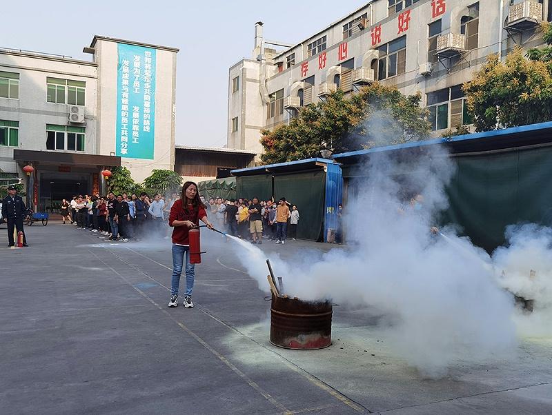 世邦塑胶消防演习2