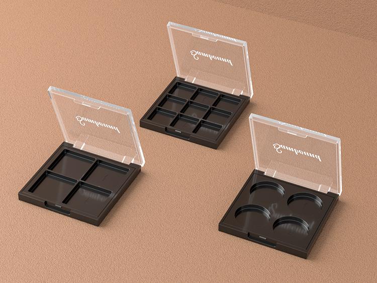 九宫格透明盖眼影盘包装注塑件