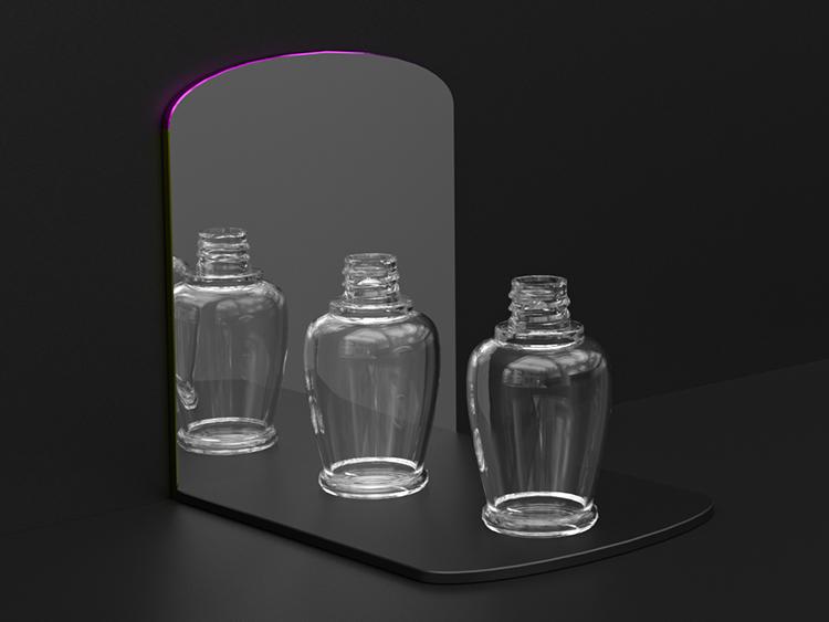 渐变色眼线增长液空瓶注塑加工