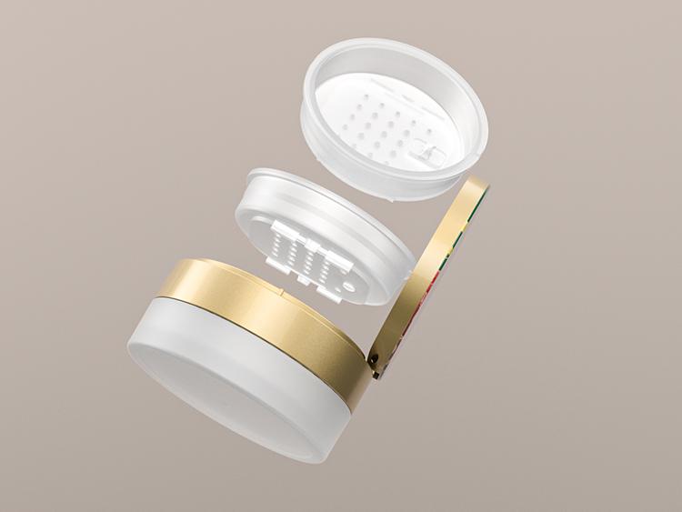 透明磨砂散粉罐容器注塑厂家