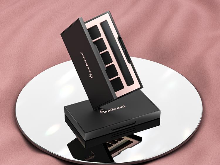 10格高质感亚面空眼影盘包装定制