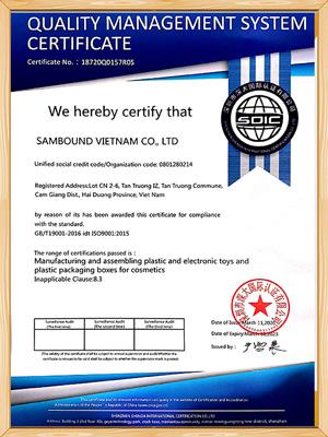 世邦塑胶-越南2020 ISO证书英文版