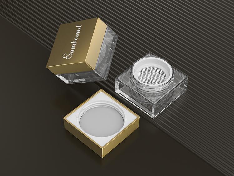 塑料蜜粉分装盒散粉盒包材注塑加工