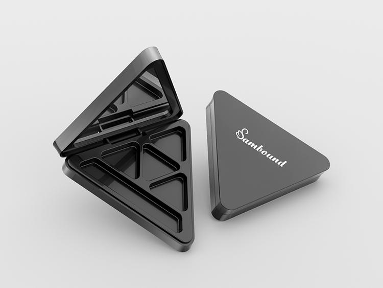 定制三角形眼影盘塑料包装