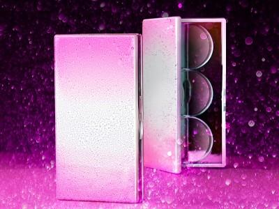 定制3色眼影盘包装 方形渐变眼影盒包材