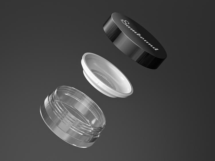 高透明带滤网散粉分装盒注塑件