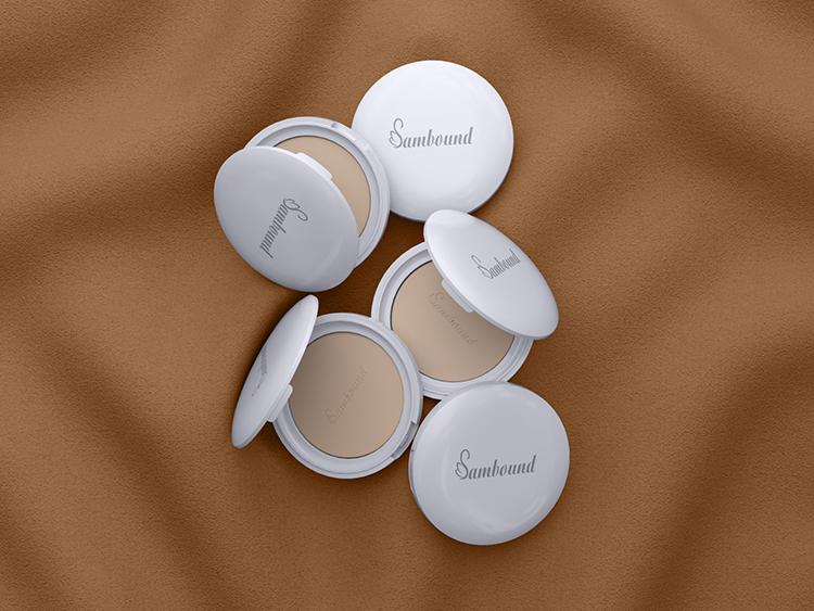 厂家定制圆形白色散粉盒分装盒